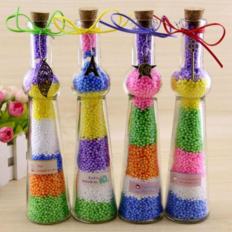 HOT!!! Assorted Colors Polystyrene Styrofoam Filler Foam Mini Beads Balls Crafts 12