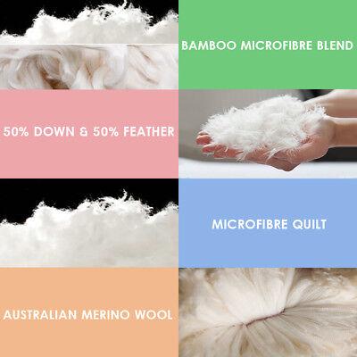 All Size Wool/Bamboo/Duck Down Goose/Microfibre Quilt Doona Duvet Summer Winter 4
