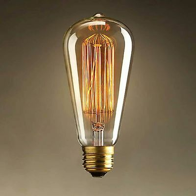 Markel 6 Light Chandelier 100% Restored Industrialized  Edison St64 60w Bulbs 6