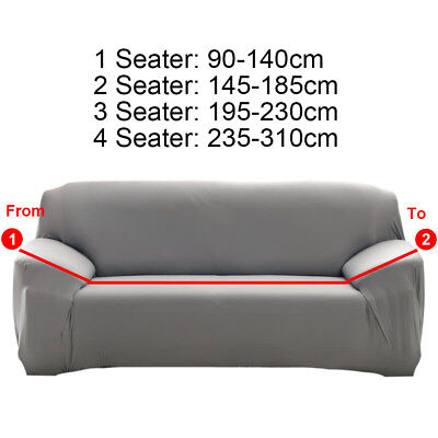1/2/3 Seater Home Soft Elastic Sofa Cover Easy Stretch Slipcover Protector Couch 3