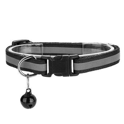 Pet Cat Dog Reflective Collar Flashing Light Up Nylon Night  Collars NEW 8