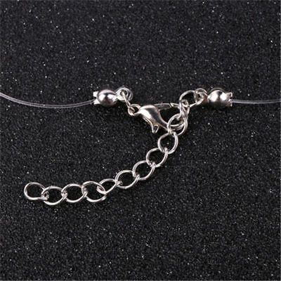 Fashion Crystal Necklace Invisible Line Zircon Clavicle Chain Women Accessories 8