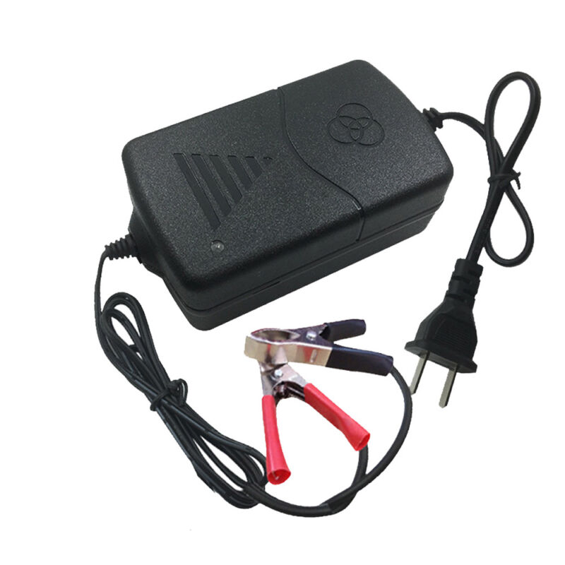 Mini Battery Charger 12V 1A Volt Trickle RV Car Truck Motorcycle Mower 2