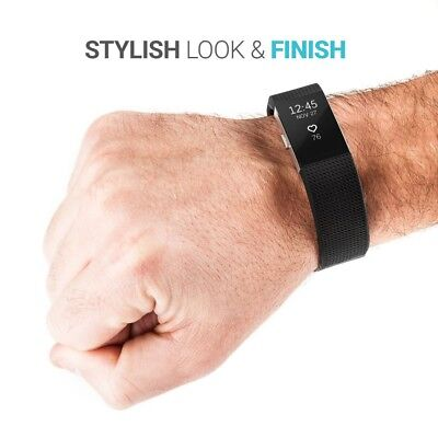 Fitbit Charge 2 Band Replacement Wristband Silicon Sports Watch Strap Metal Lot 3