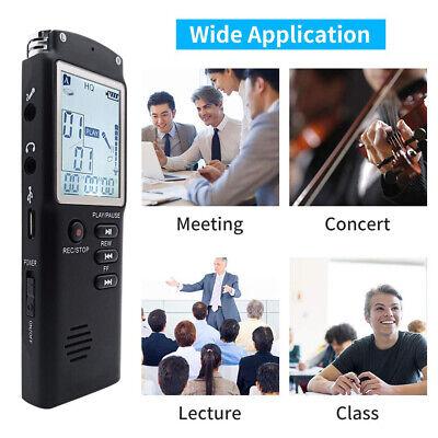 32G Voice Activated Mini Spy Digital Sound Audio Recorder Dictaphone MP3 Player 3