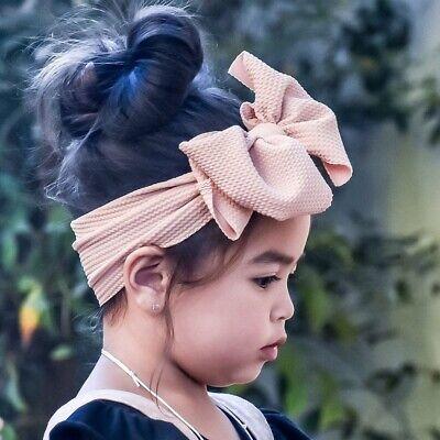 Baby Rabbit Headband Cotton Elastic Bowknot Hair Band Girls Bow-knot Newborn Bow 6