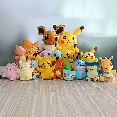 2018 Pokemon Collectible Plush Character Soft Toy Stuffed Doll Teddy Kids Gift 2