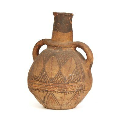 Antique Over Painted African Nigergian Water Pot 19Th C. 3