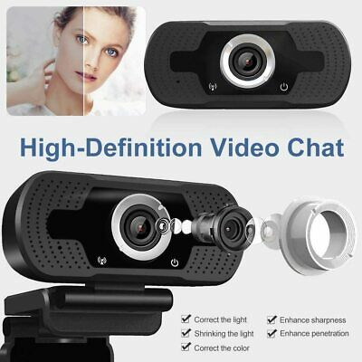 Full HD 1080P Webcam With Microphone USB For PC Desktop Laptop NEW UK Stock 7