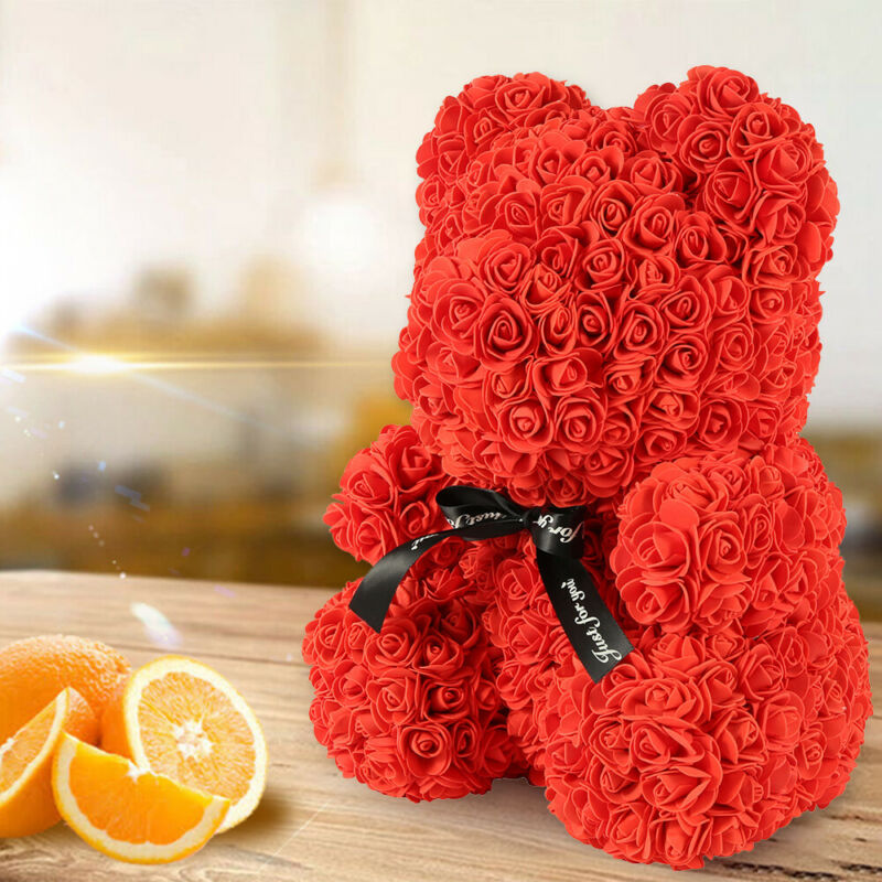 40cm Ours en Rose eternelle Ours Box Amour Teddy Bear Birthday mariage Valentin 8
