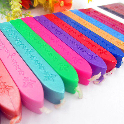 1/5X Traditional Wax Sealing Stick for Letter Stamp Seal Melting Candle Envelope 12