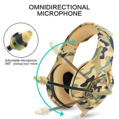 ONIKUMA K1 Stereo Bass Surround Gaming Headset for PS4 New Xbox One PC with Mic 4