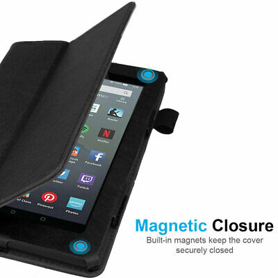 """for Amazon Fire 7"""" 2019 9th Generation Leather Flip Smart Case Stand Cover 6"""