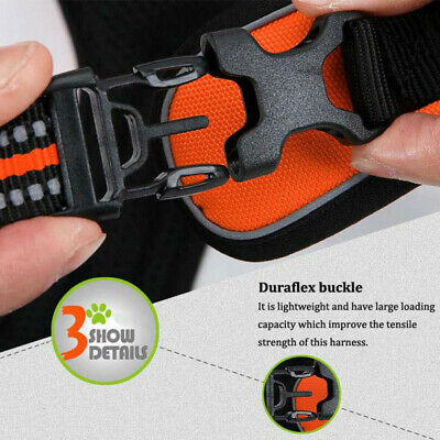 No-pull Dog Pet Harness Reflective Outdoor Adventure Pet Vest Padded Handle 3M 10