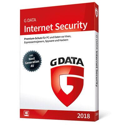 G DATA Internet Security 2018 Windows 1 PC - 1 Jahr (365 Tage) GDATA Vollversion