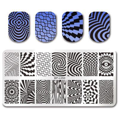 BORN PRETTY Nail Art Stamping Stamper Raschietto Piastra Plate Immagine 7