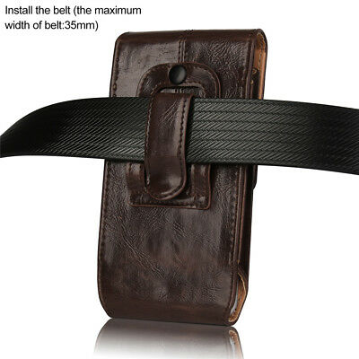 super popular dd729 5b310 VERTICAL PREMIUM LEATHER Case Cover Pouch Holster w Belt Clip for iPhone 8  Plus