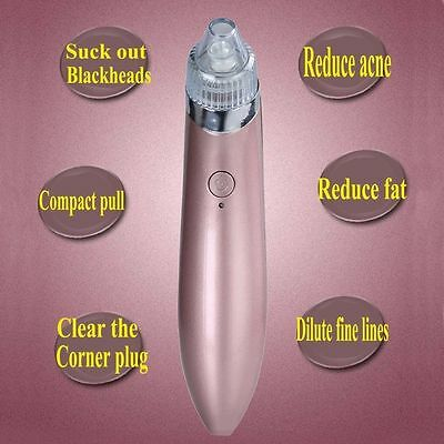 Electric Facial Skin Care Pore Blackhead Cleaner Remover Vacuum Acne Cleanser 6