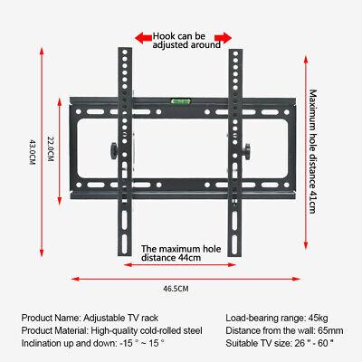 "Universal Tilt TV Wall Mount Bracket SONY SAMSUNG LG Panasonic 26""-55""LED LCD 3D 6"