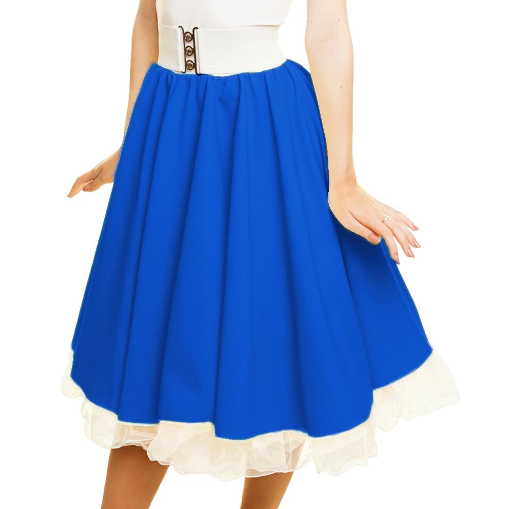 GIRLS SANDY SKIRT Plain 1950s Costume Circle Skirt Rock and Roll GREASE COSTUME 4
