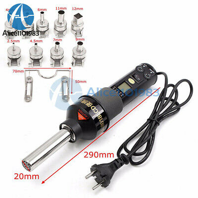 4//9Nozzle Soldering Station 450W 220V Durable LCD Display Easy Hot Air Heat Gun