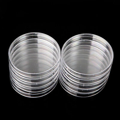 1/10Pcs Disposable Sterile Clear Plastic Lab Petri Dishes Plate With Lids 90mm