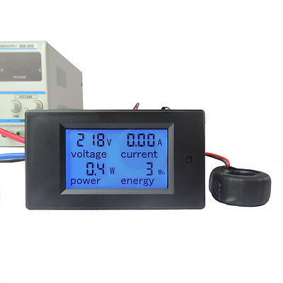 100A AC Digital LCD Power Panel Meter Monitor Power Energy Voltmeter Ammeter NEW 3