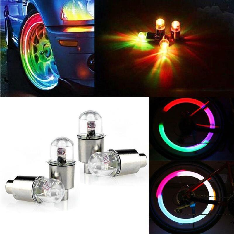 4 x LED Dragonfly Car Wheel Tyre Light Bulb Tire Air Valve Stem Cap Lamp Decor 3