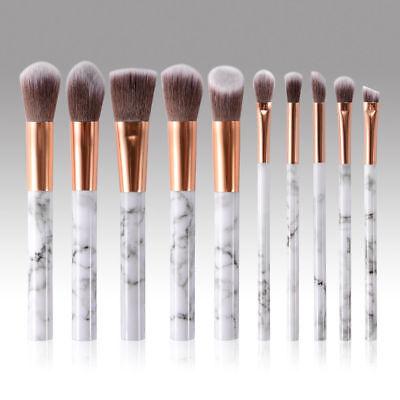 10pcs Kabuki Professional Make up Brushes Set Foundation Blusher Face Powder AU 7