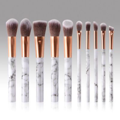 10pcs Kabuki Style Professional Make up Brush Set Foundation Blusher Face Powder 7