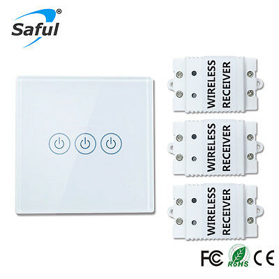 SAFUL WIRELESS TOUCH switch 3 Gang 3 Way Smart Home 220v Home Light ...