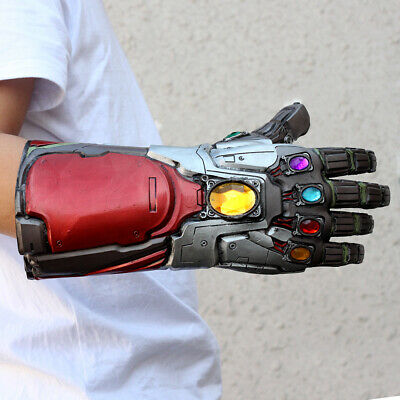 US!Avengers4: Endgame Iron Man Infinity Stone Gauntlet Cosplay Latex Glove Props 10