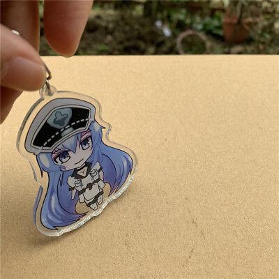 Esdeath Esdese 7cm Acrylic Keychain Strap Figure Cute Anime Akame Ga Kill