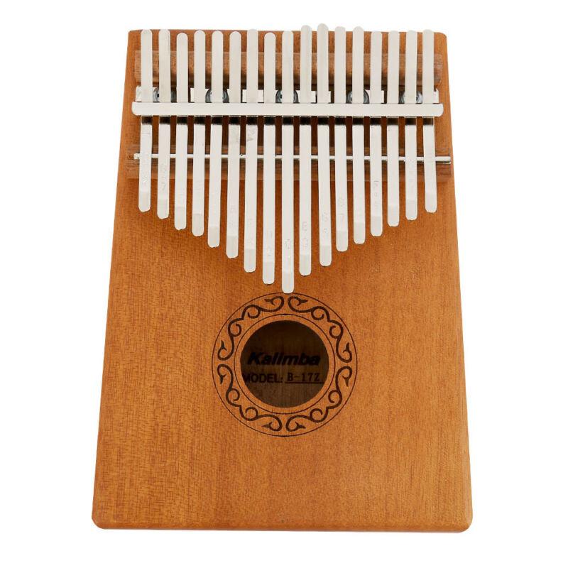 17 Keys Kalimba African Solid Mahogany Wood Thumb Piano Finger Percussion Gifts