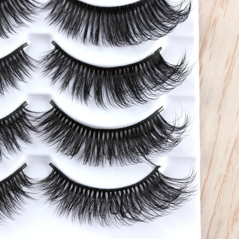 5Pairs 3D Faux Mink Hair False Eyelashes Extension Wispy Fluffy Think Lashes. 10