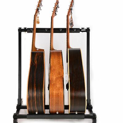 Multiple Guitar Holder Rack Stand 3/5/9 Guitars Triple Folding Organizer Stage 7