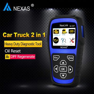 Diesel Gas Heavy Duty Truck HD ABS DPF Oil Reset ESP EPS OBD2 Diagnostic Scanner 6