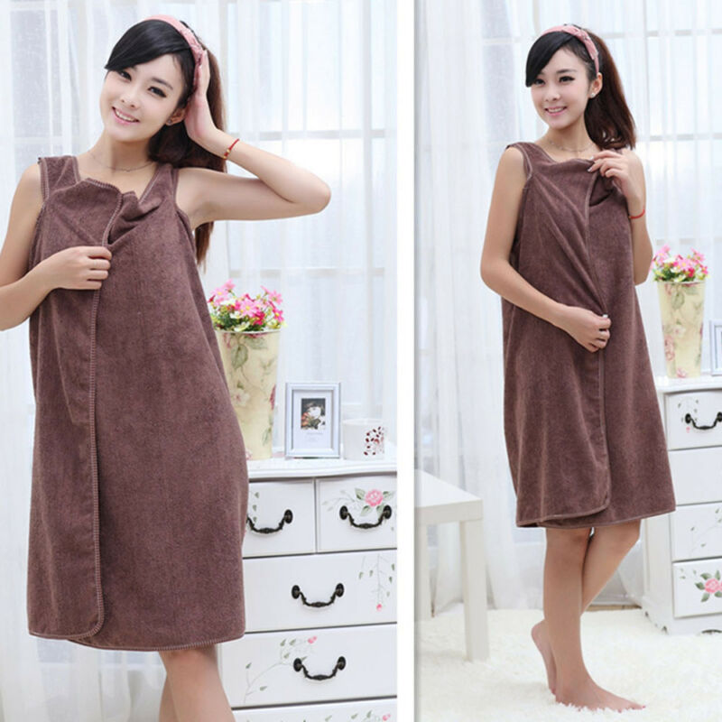 Microfiber Robes Wearable Towel Robe Spa Fast Dry Towel Bathrobes For Women Soft 5