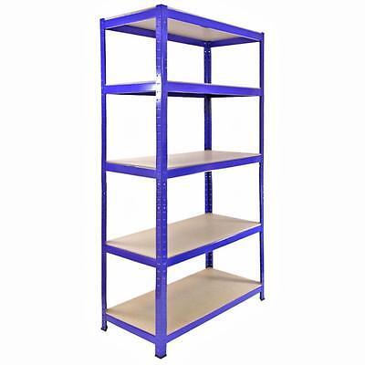 Garage Shelves 5 Tier Metal Shelving Heavy Duty Storage Racking Boltless 3 Bay 6