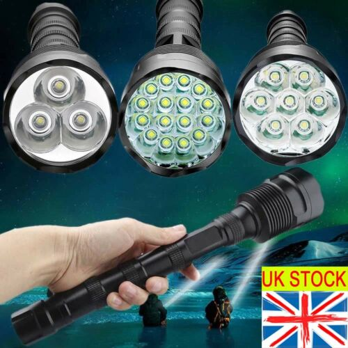 Tactical 900000Lumens T6 LED Bright Police Rechargeable Flashlight Torch Lamp # 3