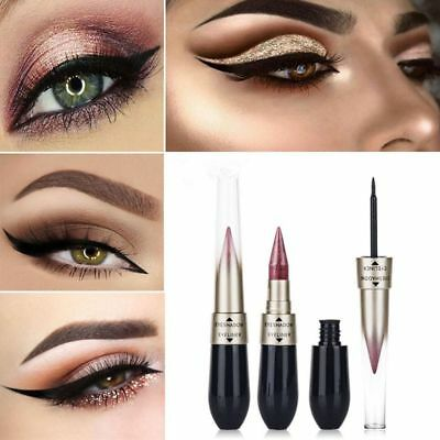 Dual-ended Metallic Shimmer Novel Liquid Eyeliner Eyeshadow Women Makeup Beauty 9
