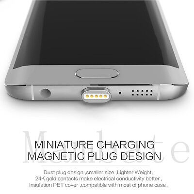 2.4A Magnetic Type-C Micro USB Charging Cable Charger Adapter for Samsung S8 LG