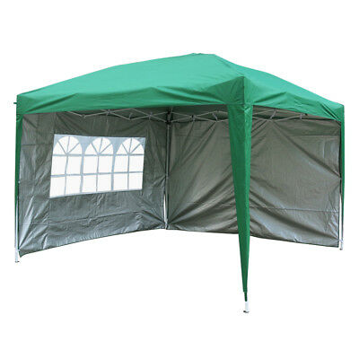 3x3m Pop Up Gazebo Marquee Outdoor Garden Party Tent Canopy 4 Side Panels New 5