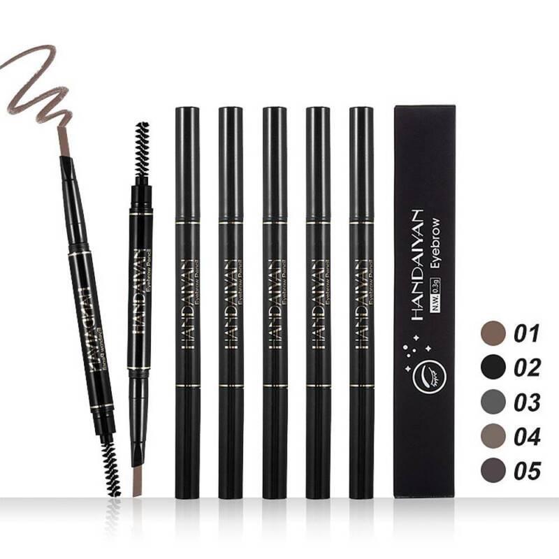 HANDAIYAN 2 in 1 Waterproof Eye Brow Eyeliner Eyebrow Pen Pencil With Brush 7