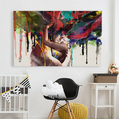 Couple Abstract Living Room home decor Painting Classical Canvas Print wall art 4