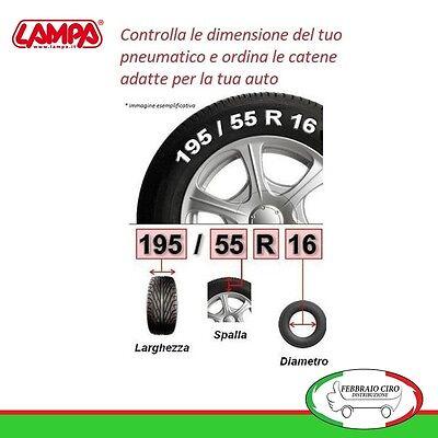 Catene da neve LAMPA R9 9mm per BMW Serie 7 pneumatici  245//45 R19  16080