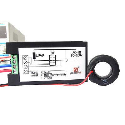 100A AC Digital LCD Power Panel Meter Monitor Power Energy Voltmeter Ammeter NEW 6