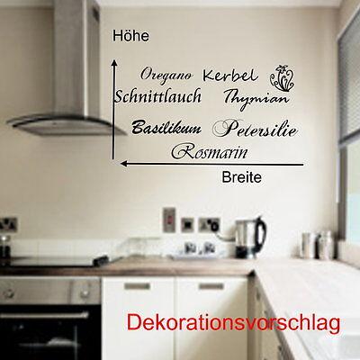 WANDTATTOO FÜR DIE Küche Kräuter Rosmarin Petersilie...Wandsticker ...