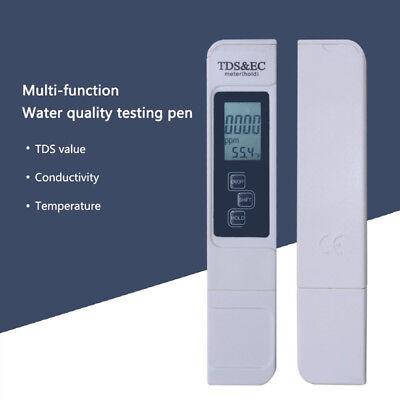 3in1 TDS & EC Meter + pH Tester Digital LCD Temperature Water Quality Purity Pen 10