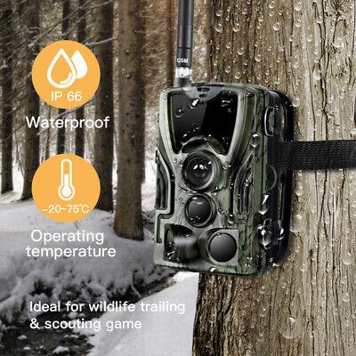 1080P Caméra de Chasse Caméra de Surveillance IR HD Nuit Vision GSM/MMS/SMTP/SMS 2